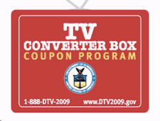 TV Converter Box Coupon Program logo. Click to visit DTV2009 Web site.