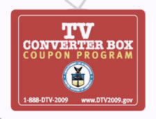 DTV Converter Box Coupon logo. Click to go to dtv2009.gov Web site.