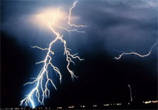 Image of jagged lightning bolts. Click for larger image.