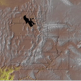 Topographic Map of Utah