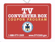 DTV Converter Box Coupon Program logo. Click to go to DTV Converter Box Coupon Program Website.