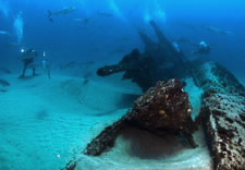 Underwater image of shipwrecks. Clicker for larger image.