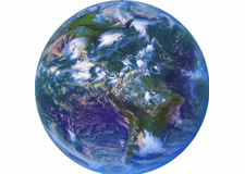 Image of Earth featuring oceans. Click for larger image.