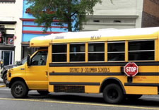 Image of District of Columbia yellow school bus.