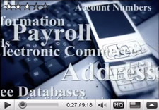 Image of video player. Click to watch a new NIST video explaining the reasons why small businesses should be concerned about safeguarding the information on their computers.