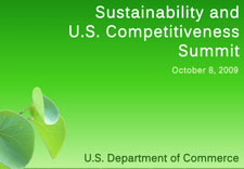 ITA Sustainability and U.S. Competitiveness Summit logo. Click for larger image.