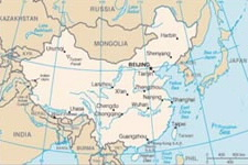 U.S. State Department map of China.