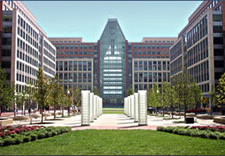 Campus view of USPTO in Alexandria, Va.