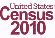 Logo of Census 2010. Click to go to official Web site.