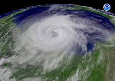 Satellite image of Hurricane Ike, 2008. Click for larger image.