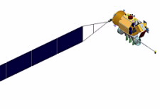 One of the three CLARREO satellites, which will make observations of the energy the Earth absorbs from the sun and radiates back into space. Click for larger imae.