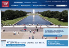 Image of home page of 2010 Census Web site. Click to go to Web site.