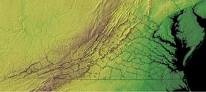 Topographic Map of Virginia