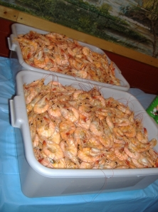 Image of tubs of shrimp