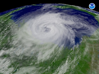 Satellite photo of Hurricane Ike, 2008