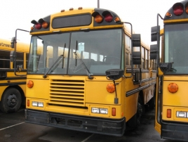 Image of front of yellow school bus