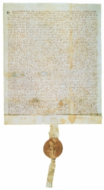 Image of historic Magna Carta, courtesy David M. Rubenstein and NARA