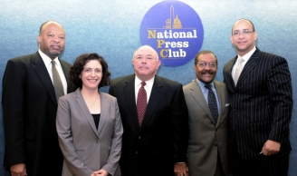 Secretary Locke with participants at National Press Club