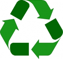 Green arrows symbolizing reduce-reuse-recycle