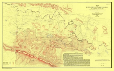 Map of Chickamauga
