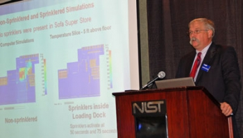 NIST Official at Podium Discussing Report